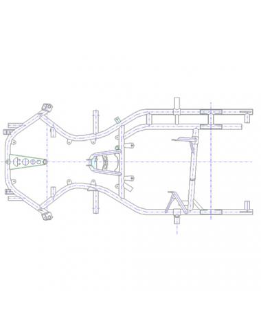 Rahmen MS-Kart  RZF 29  für 2-Takt Motoren