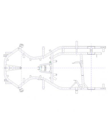 Rahmen MS Blue Falcon für KF / Rotax