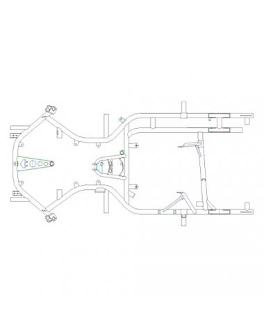 Rahmen MS Blue Falcon - 4-Takt