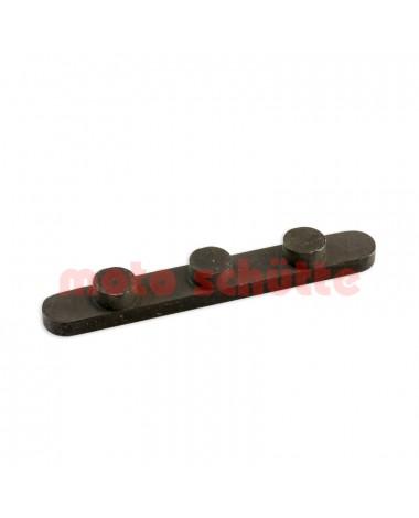 Achskeil mit 3 Stiften, Abstand 34mm, Stifte Ø 7,5mm