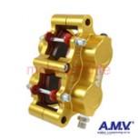 Bremssattel 4-Kolben A.M.V. RSB gold