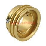 Antrieb Waserpumpe Gold eloxiert