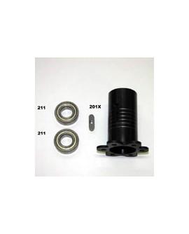 Tragrohr für vordere Radnabe 40 mm  RC 20, RC 23