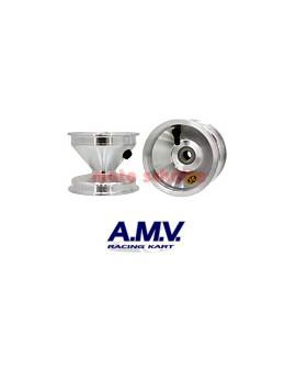 Felge 110mm 100cc AMV, Standard Silber