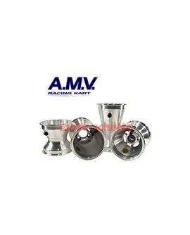 Felgensatz 130/210mm AMV (KF) Sterndesign, Silber