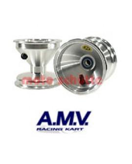 Felge 125mm 100cc AMV, Standard Silber