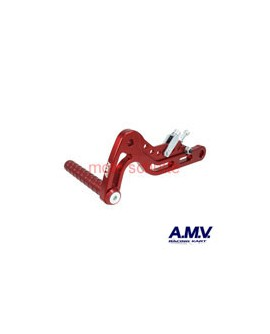 Alu-Bremspedal AMV Rot