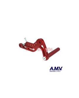 Alu-Gaspedal AMV Rot