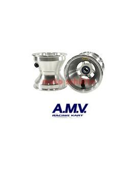 Felge 110mm 100cc AMV, Sterndesign Silber