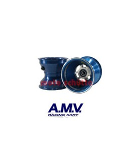 Felge 130mm 100cc AMV, Sterndesign Blau