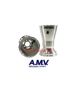 Felge 210mm AMV, Sterndesign Silber