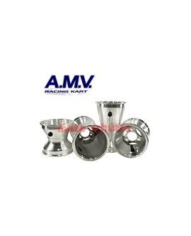 Felgensatz 130/210mm, 125cc Sterndesign Silber
