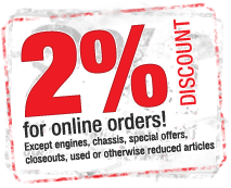 2% Discount for online orders!